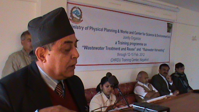 Report on CSE Training programme on 'Sustainable Water Management' for engineers of Ministry of Physical Planning and Works, Government of Nepal February 12-15, 2012