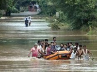 Helicopters, boats pressed into service in flooded Assam