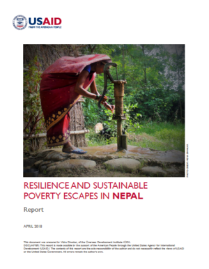 Resilience and sustainable poverty escapes in Nepal