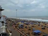 Axe on Puri beach shops